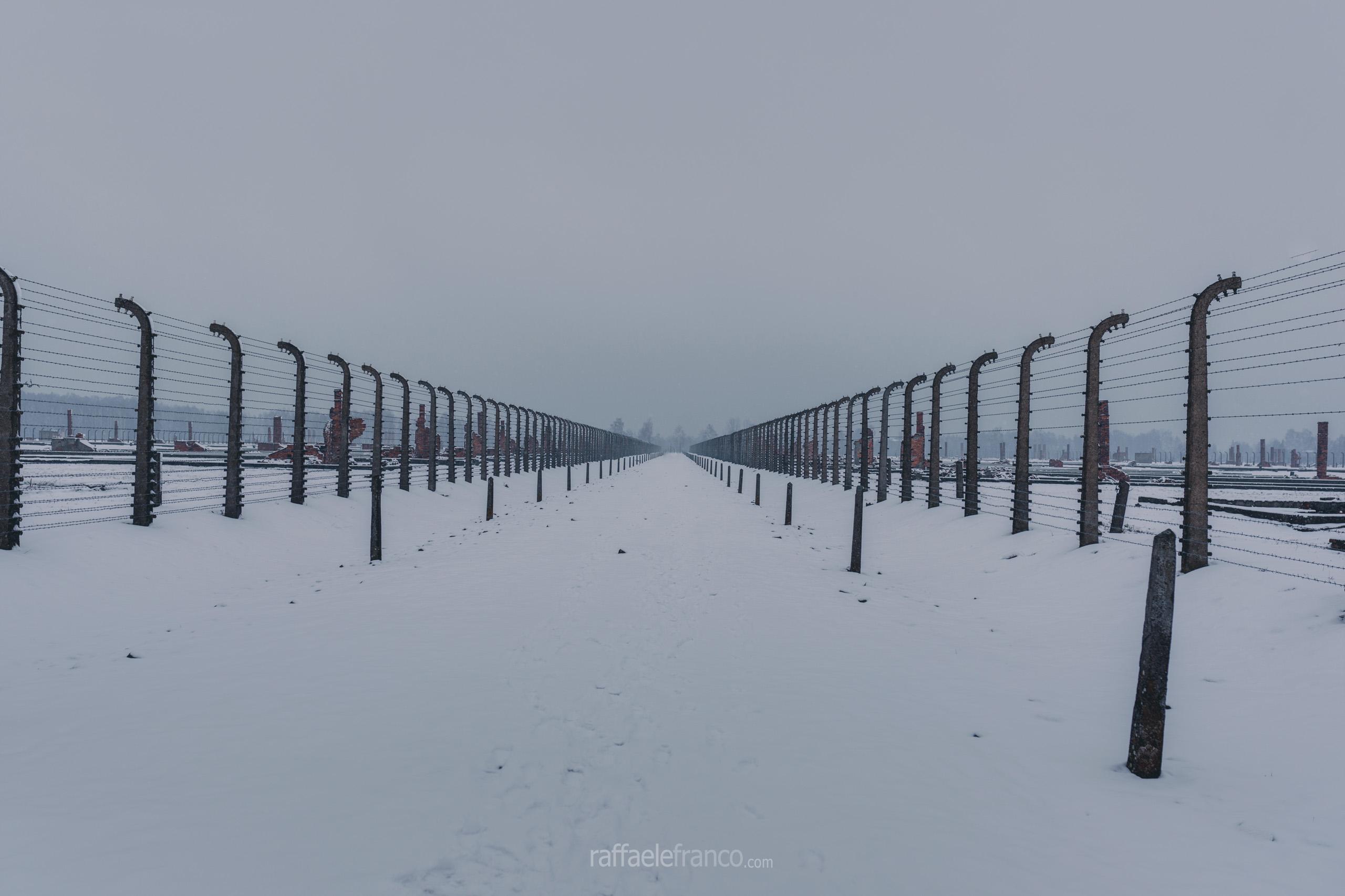 È difficile comprendere l'immensa dimensione del campo di Auschwitz-Birkenau II